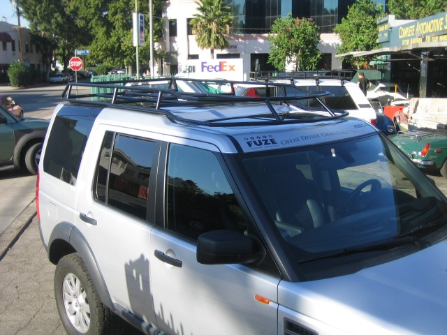 discovery land rack lr rover grande ltd slimline ii landrover overland trek front runner products roof